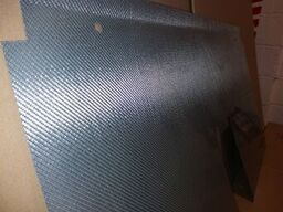 Westfield rear bulkhead panel in silver alufibre