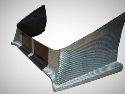 Westfield carbon fibre air dam/splitter in alutex fabric